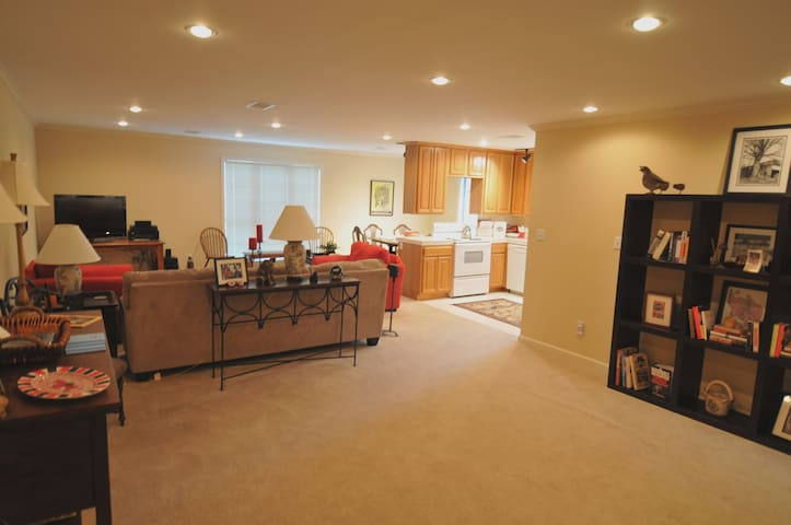 Your spacious living, dining room and kitchen.