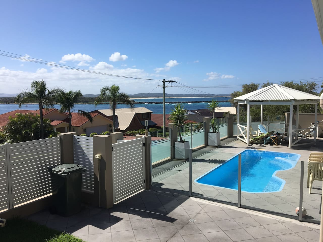 View from deck, use of pool allowed sunscreen provided