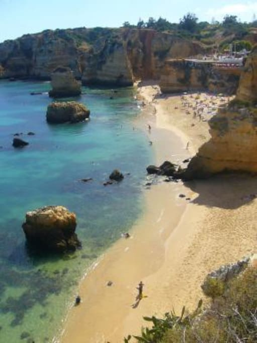 the clear ocean waters. A must go in Lagos - Dona Ana Beach - few steps down our lovely SimpleDreamHouse!
