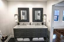 Master bathroom- double-vanity