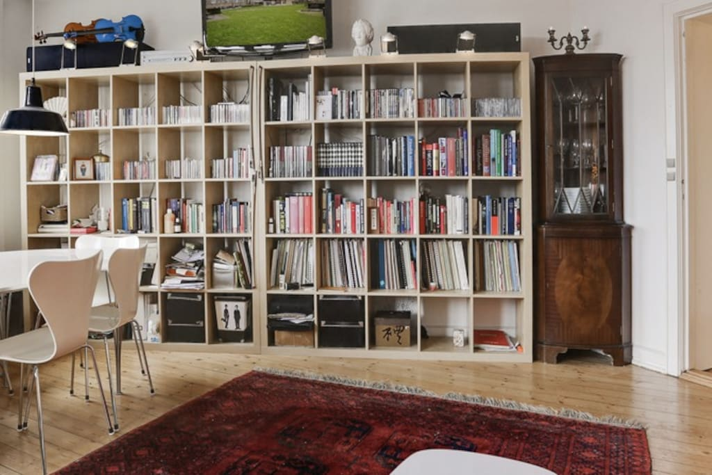 Make yourself at home, read a book from our large collection (multi language!)
