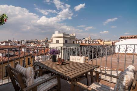 Atico con terraza Centro Madrid  Mayor/ Sol wifi. - Madrid