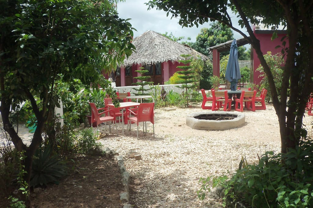 beer garden & fire pit