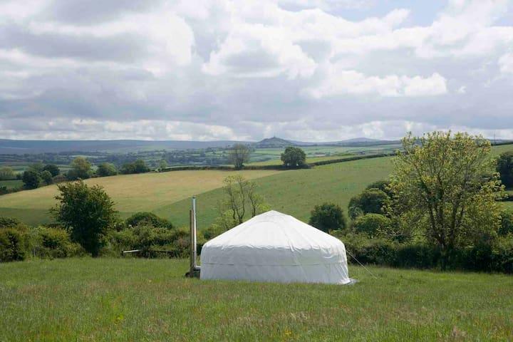 Luxury secluded yurt, amazing views