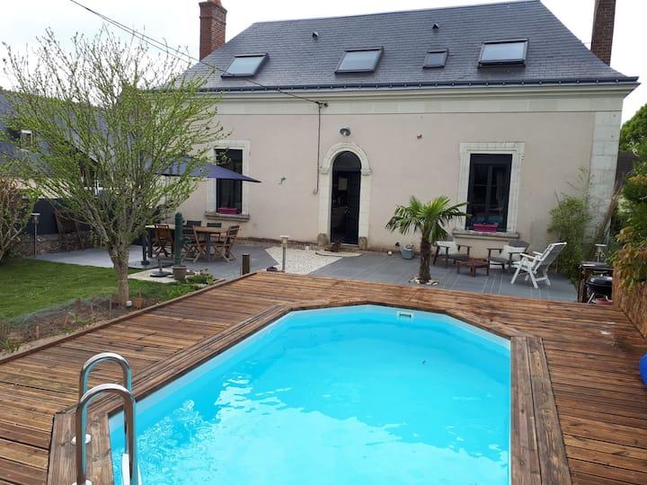 Au coeur des châteaux de la Loire, maison 7 pers.