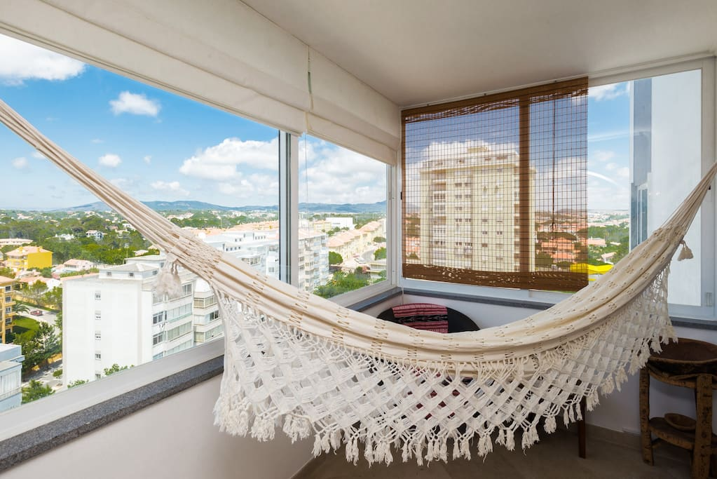 Closed Balcony, equipped with an hammock.