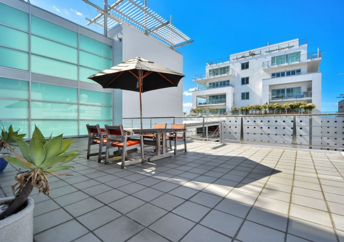 Apartment with large sunny balcony which doubles your living space.