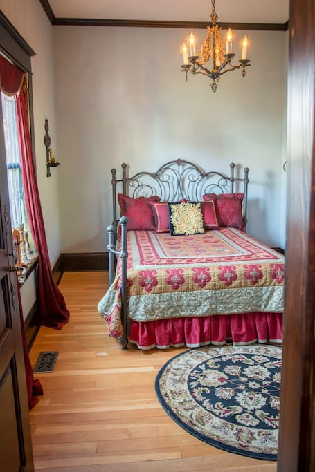 Bedroom has a full size bed with a new mattress and a smart flat screen tv. Cable is included.