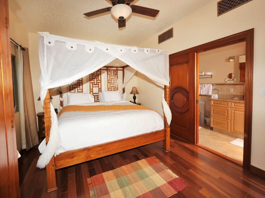 Canopied King Plush Bed, Brazilian Hardwood, Spacious layout, Standard One Bedroom