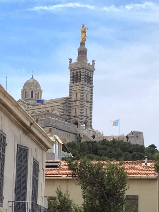 Vue sur Notre Dame de la Garde