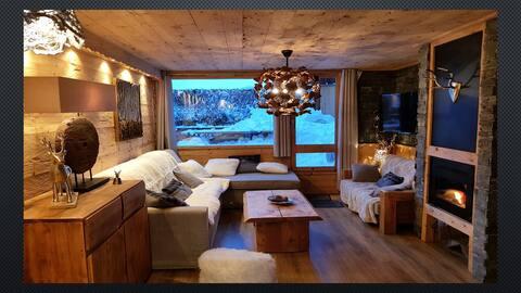 Appart 10 pers La PLAGNE BELLECOTE skis aux pieds