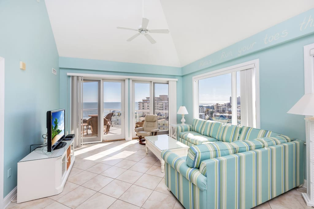 Stunning Views of the Ocean, Bay, & OCMD Skyline from this Hi-Rise Condo.
