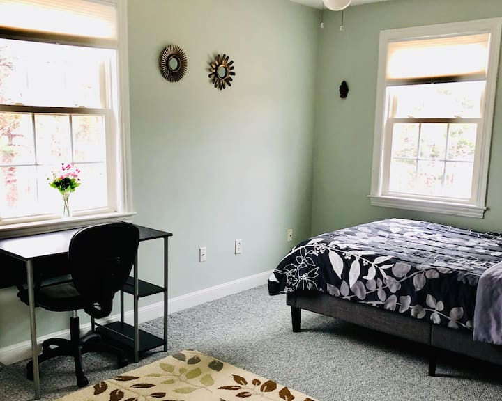 Bedroom with Private Full Bath in Quiet Town