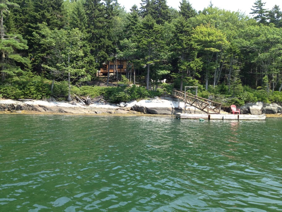 Our dock and camp on Long Island