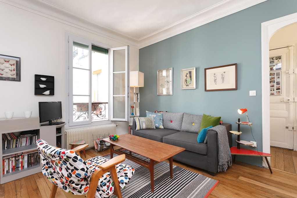 Charming flat in montmartre 45m2 apartments for rent in for 45m2 apartment design