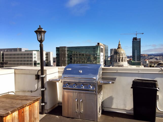 Rooftop terrace with BBQ station. Make sure you ask host for instruction before usage.