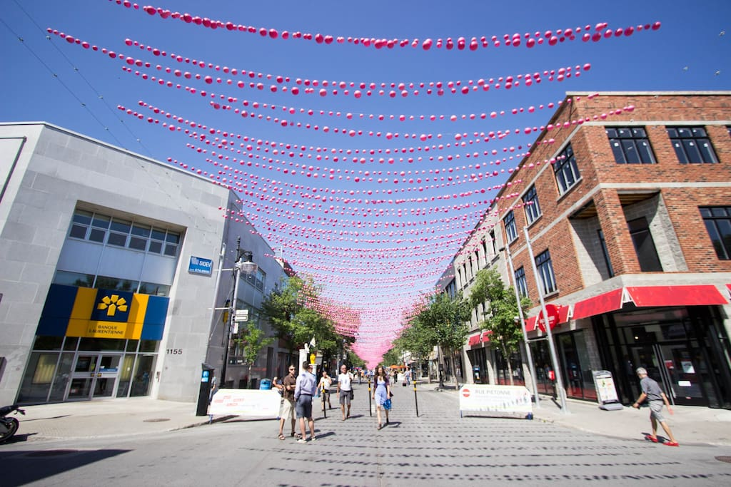 At 2 min walking-distance Ste-Catherine