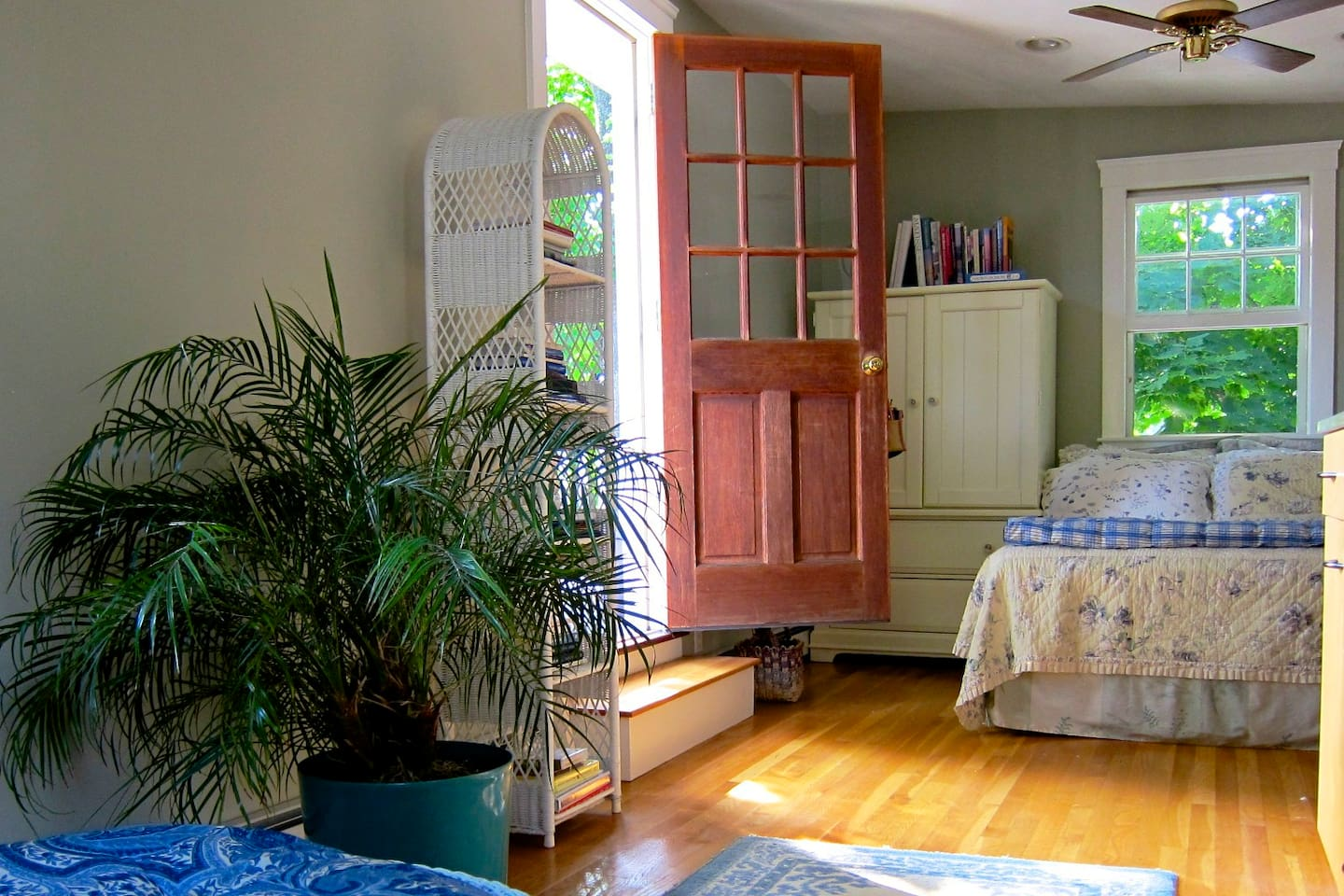 Your Large Bedroom Upstairs opening onto Deck.