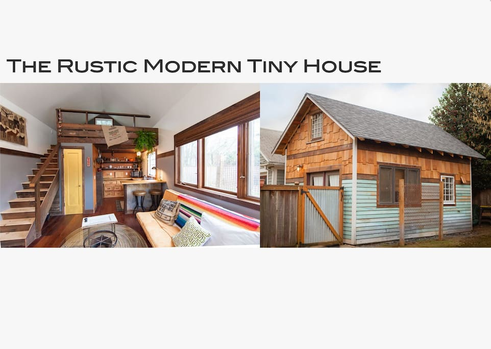 the rustic modern tiny house maisons louer portland. Black Bedroom Furniture Sets. Home Design Ideas