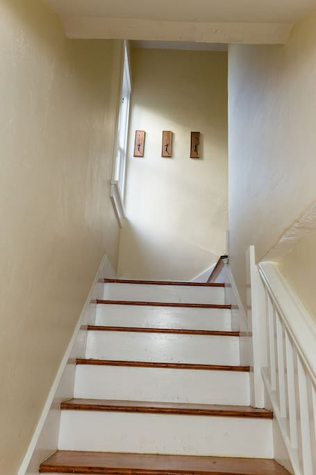 Stairs to upstairs unit