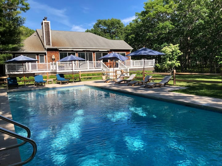 Hampton Bays 5 bed/5 bath large secluded property