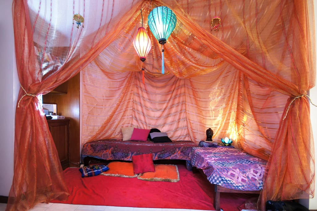 Our hippie-gipsy-bohemian corner ;)