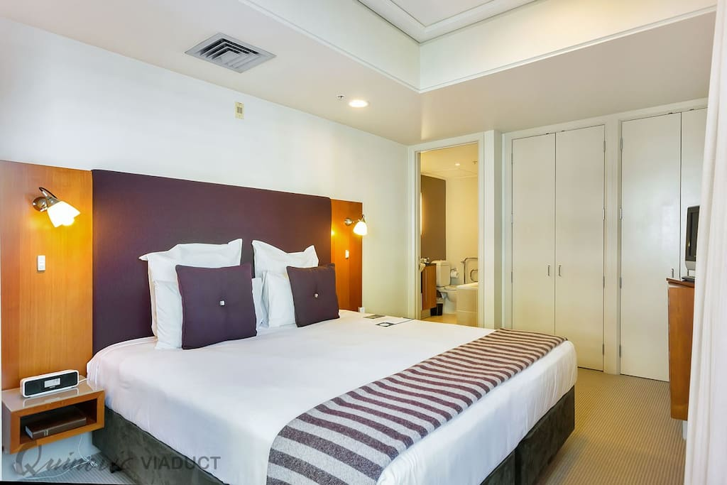 Superking bedroom which has its own TV and ensuite