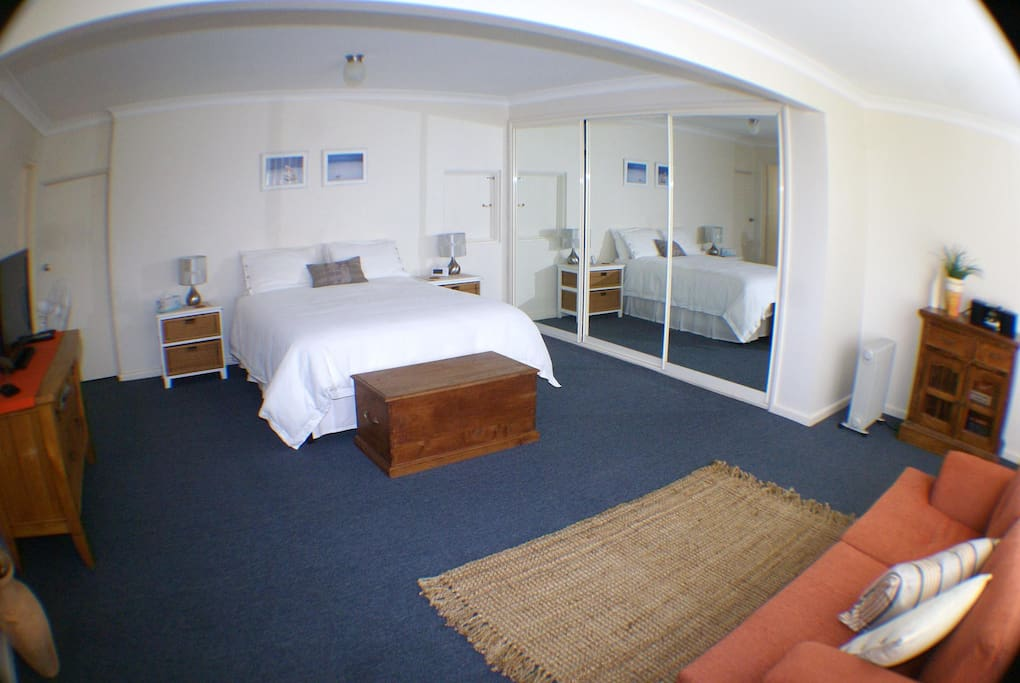 Large bedroom and lounge are with free Foxtel and Wi Fi
