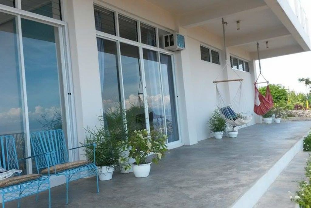 The Apartment front decking area