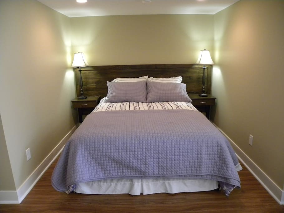 Queen size bed, all linens included