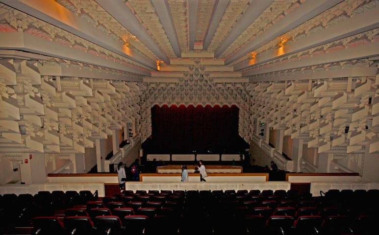 The Capitol Theatre designed by Walter Burley Griffin was described as the best theatre that ever was and ever will be built shares the same building. You may be lucky and get a sneak peak.