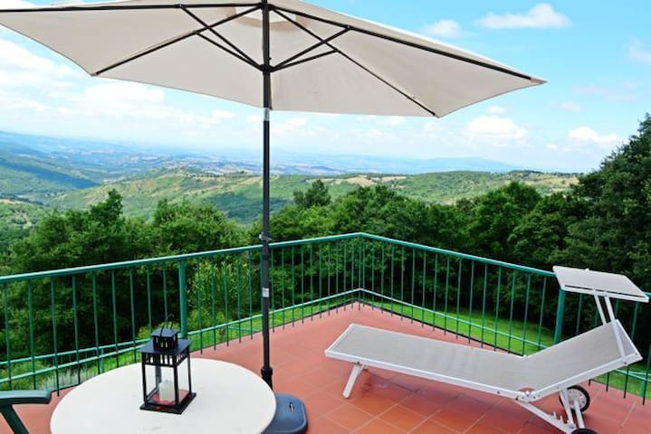 South Tuscany, pool, Panorama View, Apartment - Arcidosso - Huoneisto