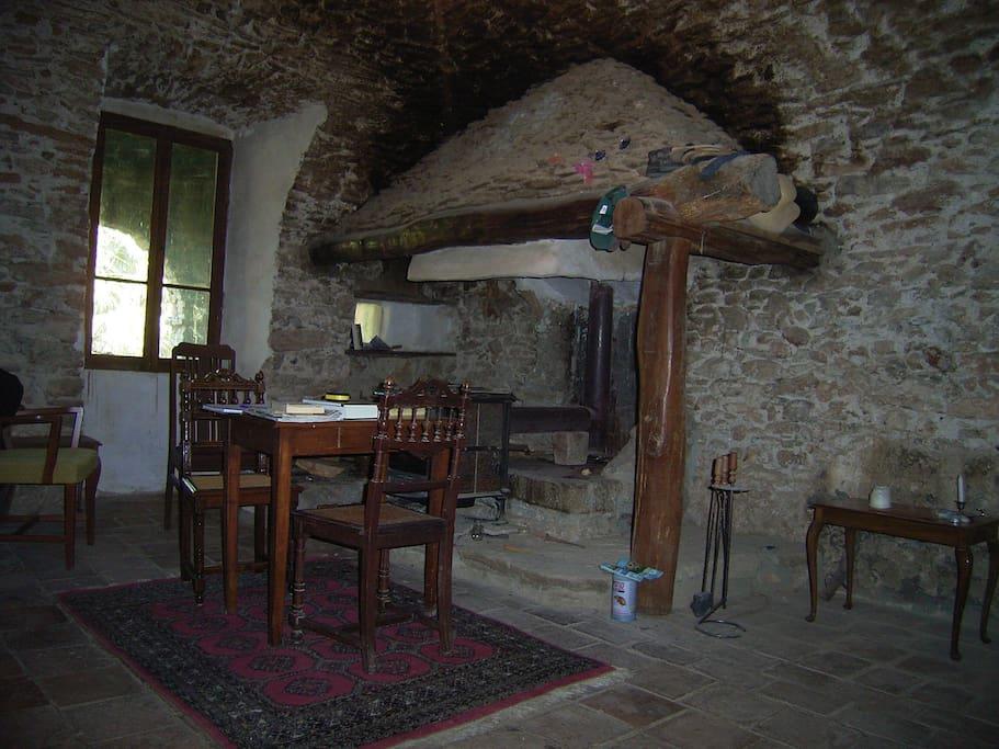 Ruimte in het 600 jaar oude deel van het hoofdgebouw