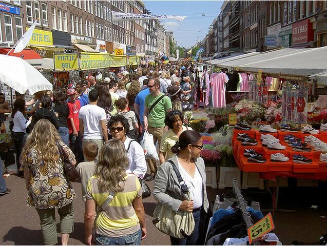 Albert Cuyp market just round the corner