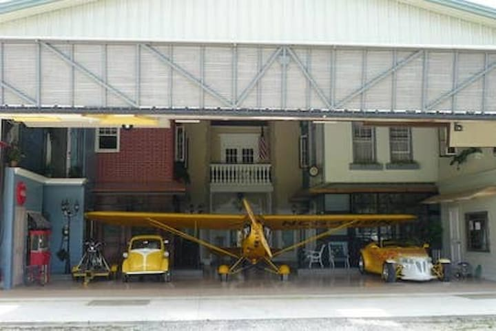 The Airplane Hanger is another Airbnb venue available on property. https://www.airbnb.com/rooms/2713449?s=67&shared_item_type=1&virality_entry_point=1&sharer_id=13885996