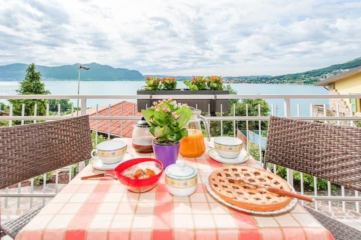 Appartamento con vista lago d'Iseo