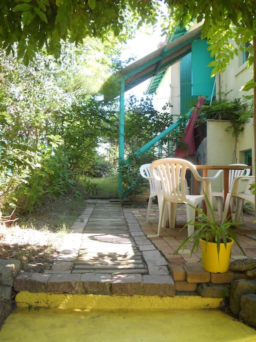 terrasse de l'appartement