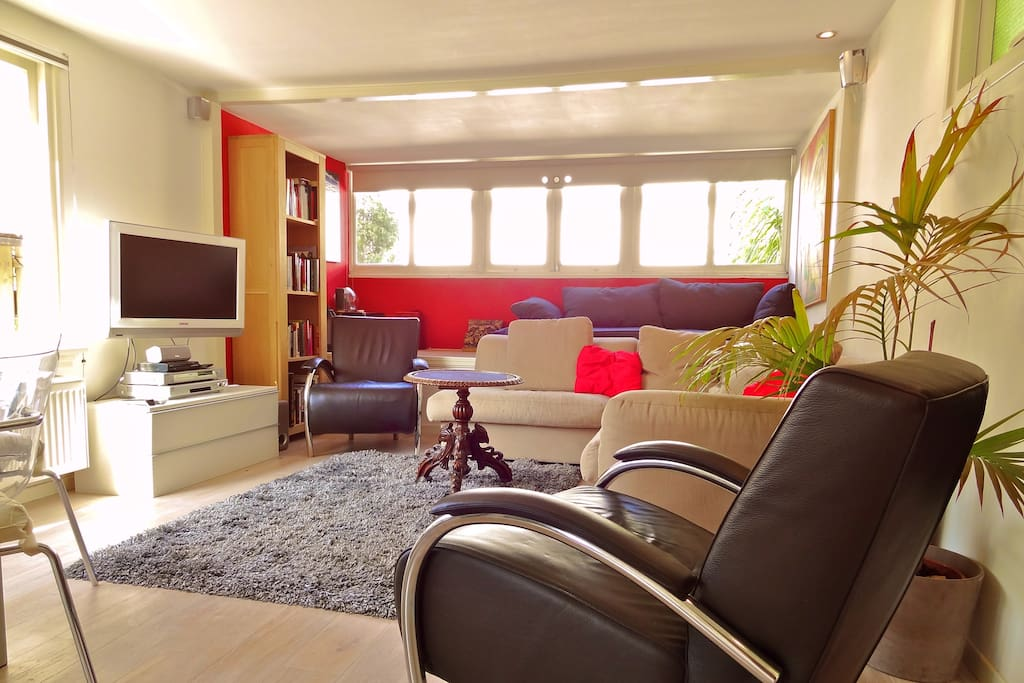 Light living room with a beautiful view