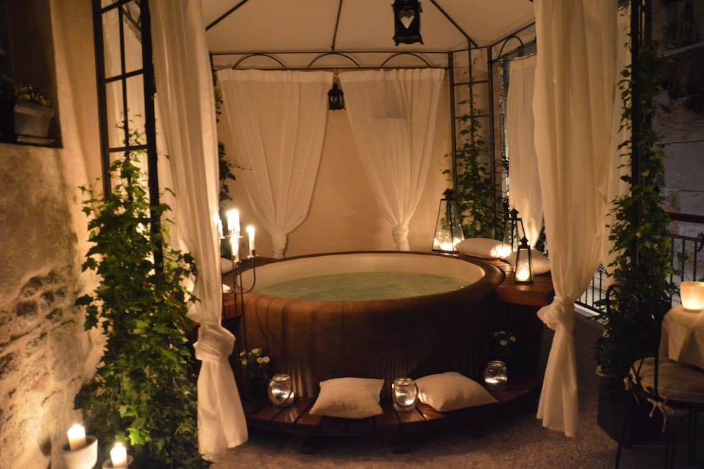 Jacuzy for 4 people (2 m wide) on private terrace just for you.