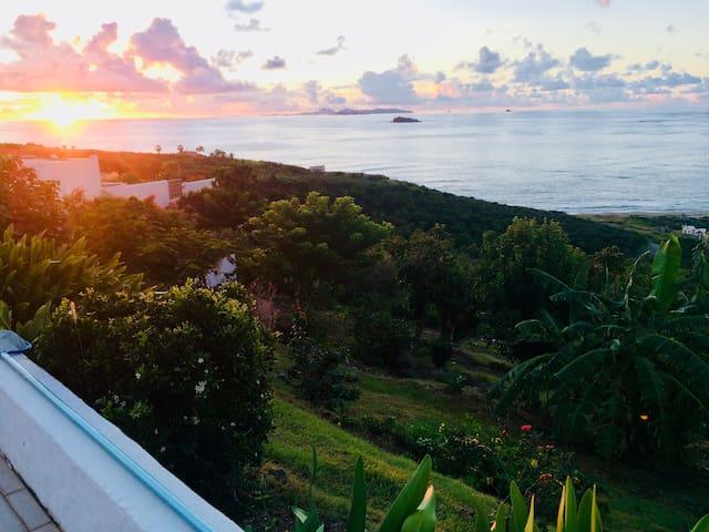 Dawn st Barth's view