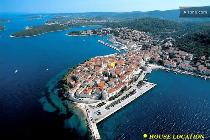 Old town, private en-suite room - Korčula - Huis