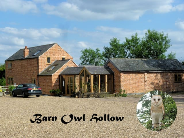 The West Wing, Barn Owl Hollow Double Room Ensuite - Market Harborough - 一軒家