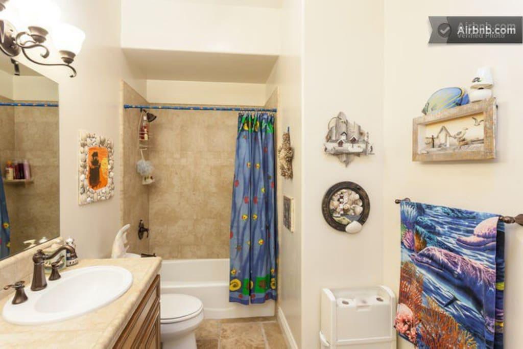 Bathroom w/rental room