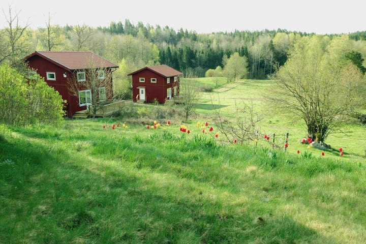 Cottages on a picturesque farm