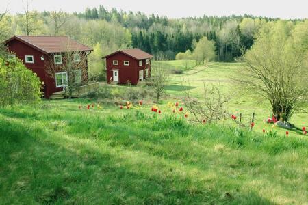 Cottages on a picturesque farm
