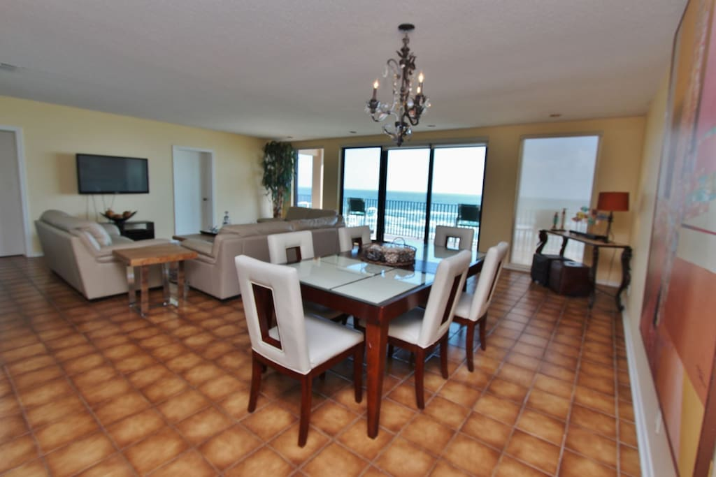 Ample Dining Room Area With An Ocenaview