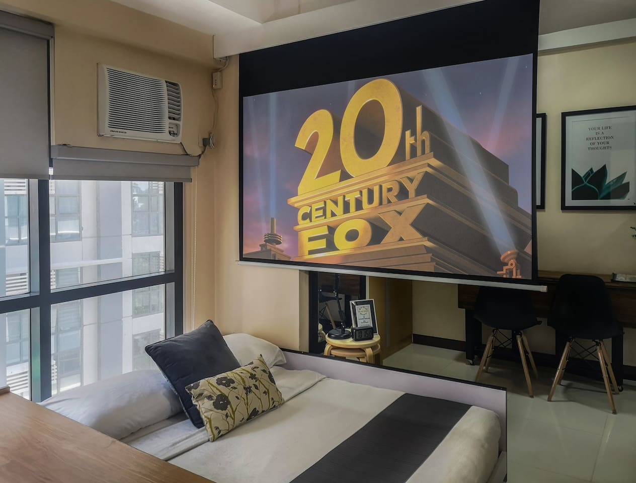 Explore BGC by day and relax with your own cinema at night