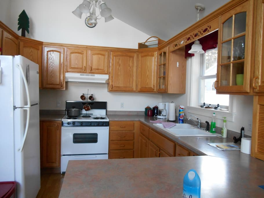 The fully appliance kitchen