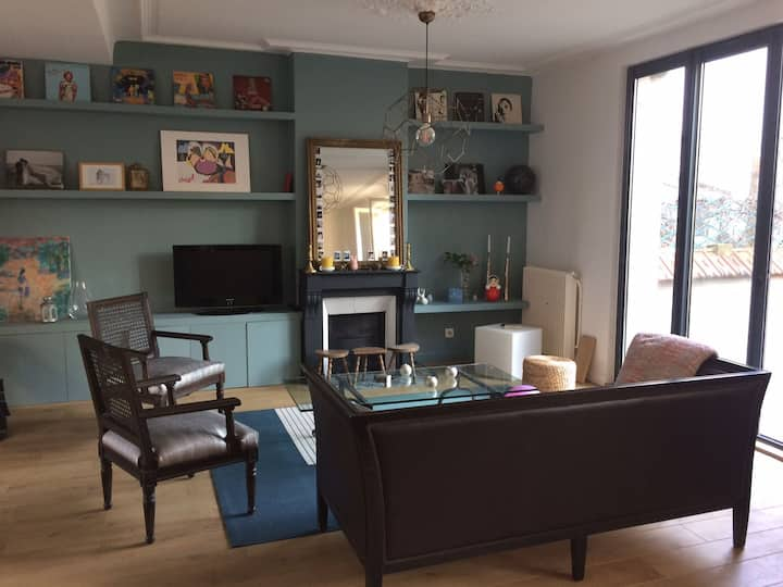 A cosy house with garden  at only 6mn from Paris