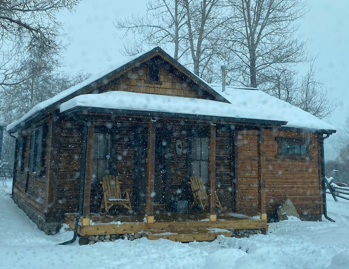 1865 Historic Cabin w/hot tub. Close to red lodge!
